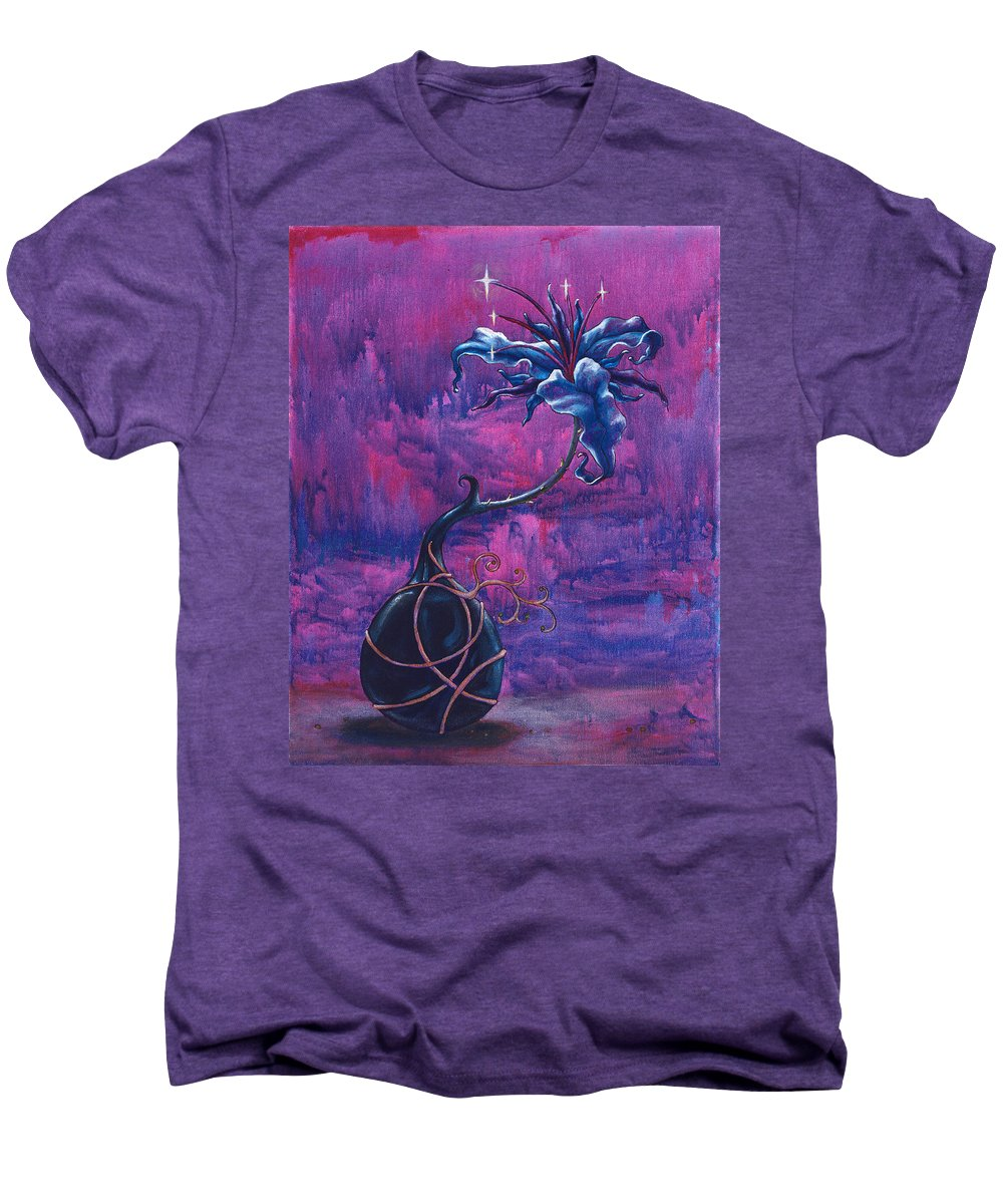 Lily Men's Premium T-Shirt featuring the painting Waiting Flower by Jennifer McDuffie