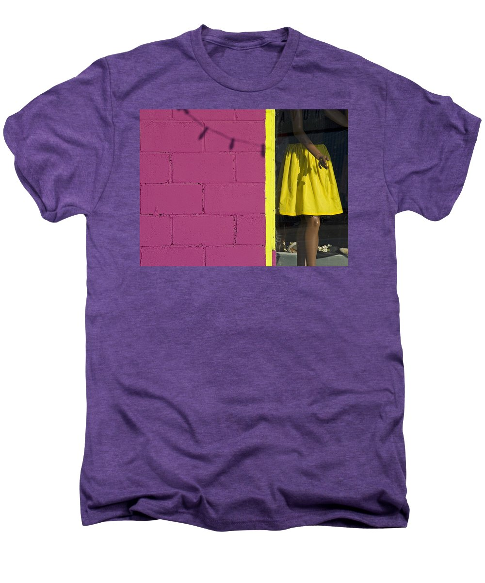 Woman Men's Premium T-Shirt featuring the photograph Waiting by Skip Hunt