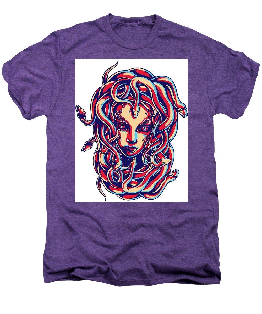 Greek-mythology Men's Premium T-Shirt featuring the digital art Medusa by Passion Loft