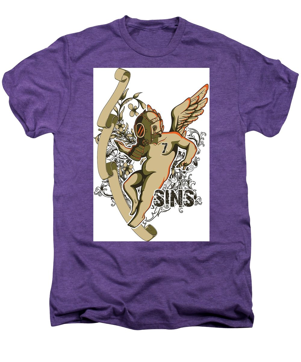 Religion Men's Premium T-Shirt featuring the digital art Angel With Gas Mask by Passion Loft