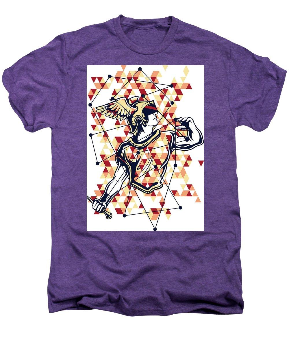 Greek-mythology Men's Premium T-Shirt featuring the digital art Hermes Greek God by Passion Loft
