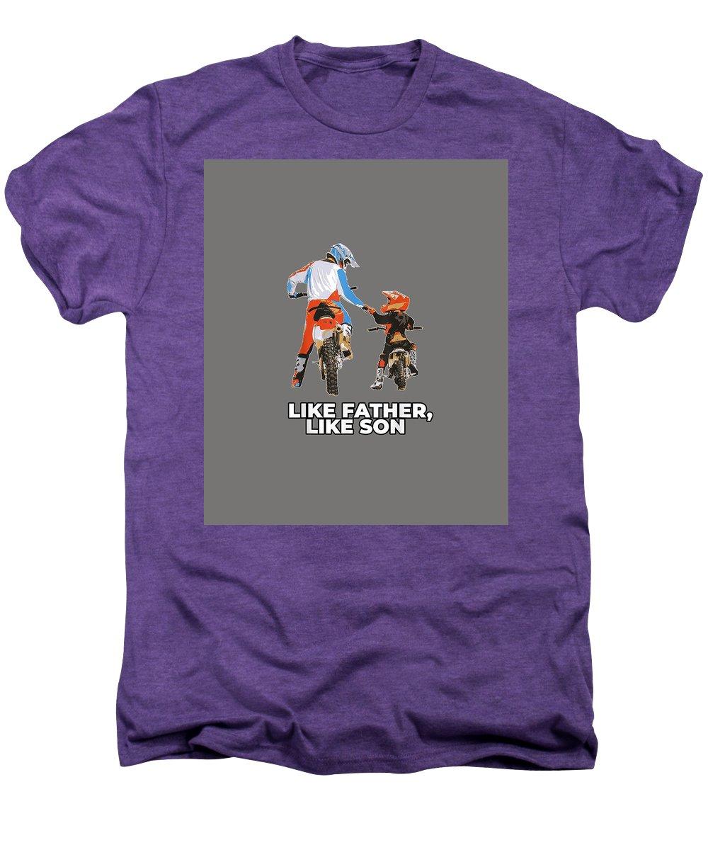 girls' Novelty Clothing Men's Premium T-Shirt featuring the digital art Moto Boss Braaap Dirt Bike Motocross Off-roading Shirt by Unique Tees