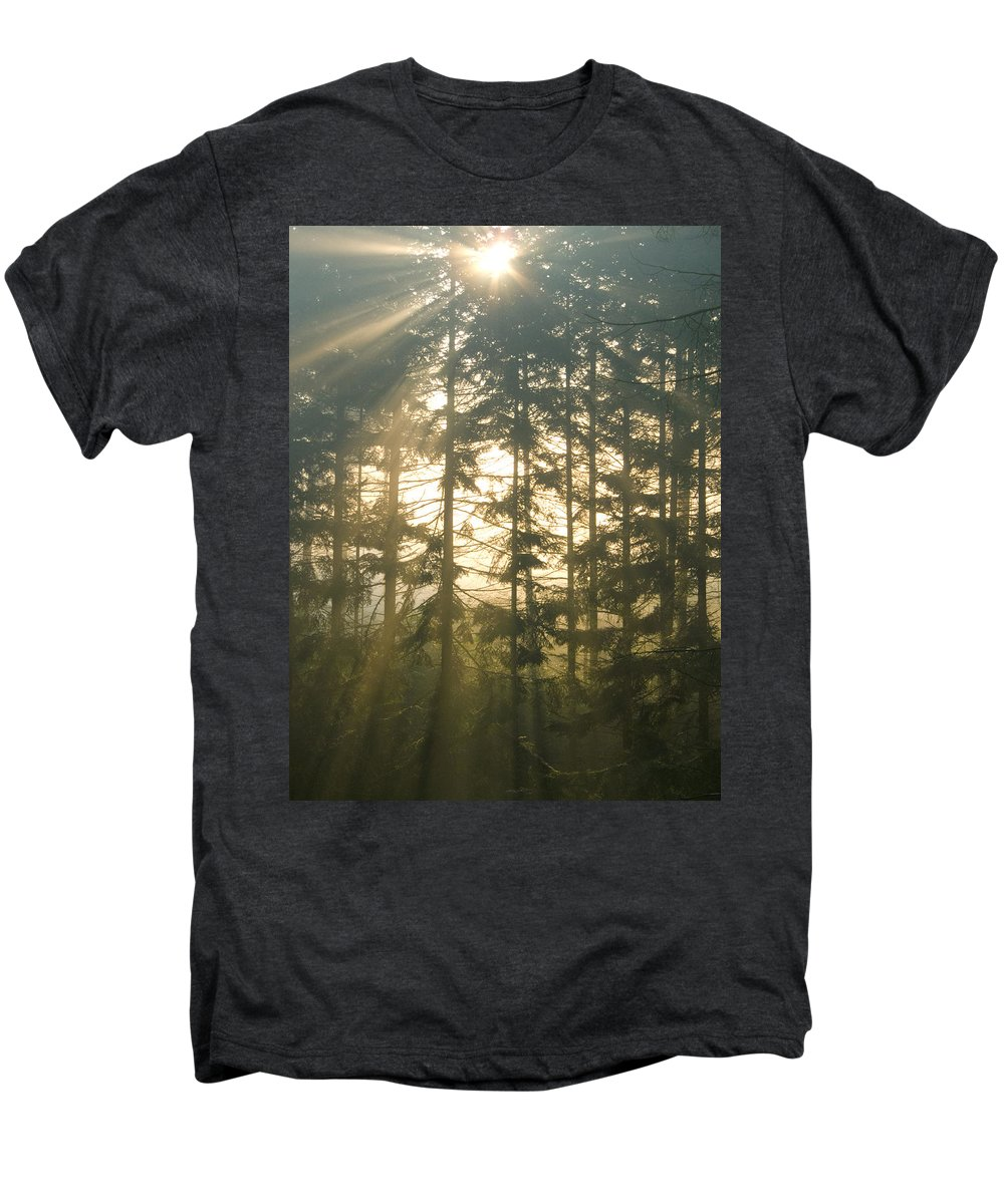 Nature Men's Premium T-Shirt featuring the photograph Light In The Forest by Daniel Csoka