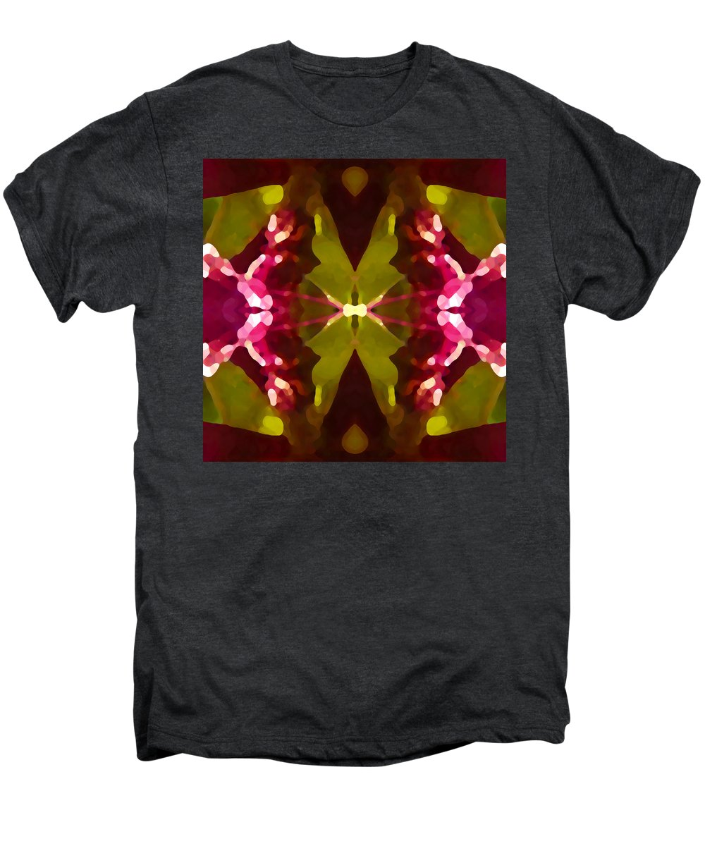 Contemporary Men's Premium T-Shirt featuring the painting Abstract Crystal Butterfly by Amy Vangsgard