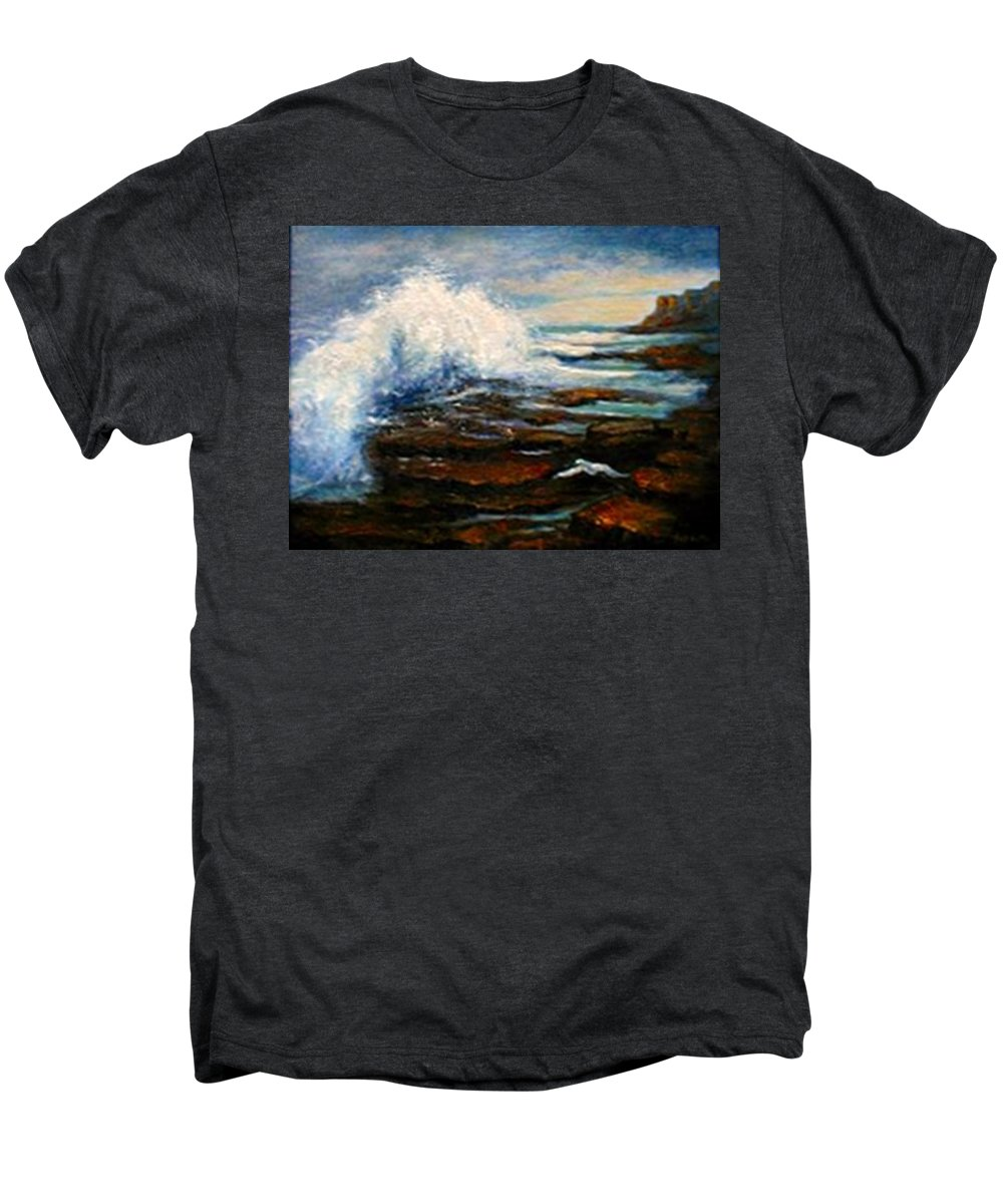 Seascape Men's Premium T-Shirt featuring the painting After The Storm by Gail Kirtz