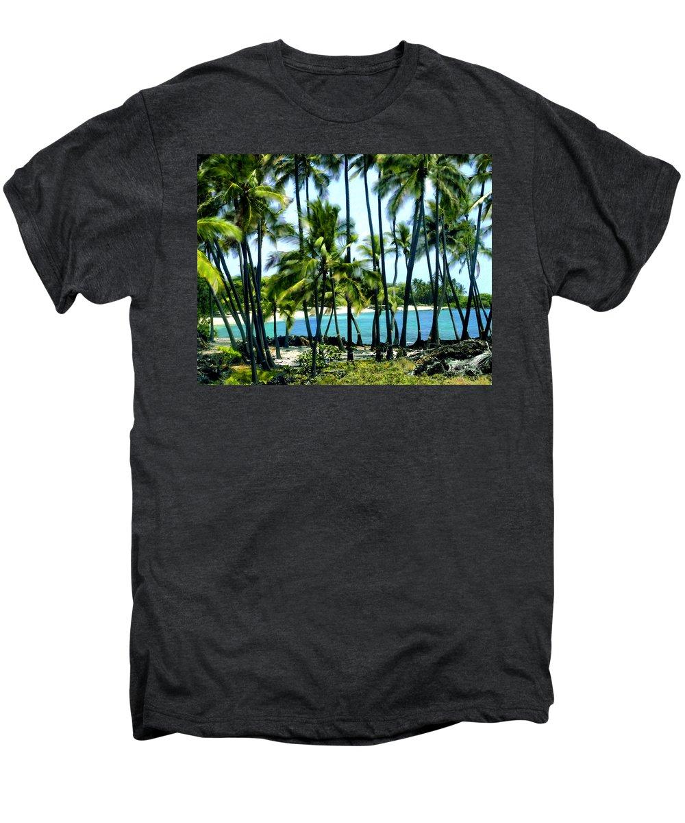 Hawaii Men's Premium T-Shirt featuring the photograph Afternoon At Kakaha Kai by Kurt Van Wagner