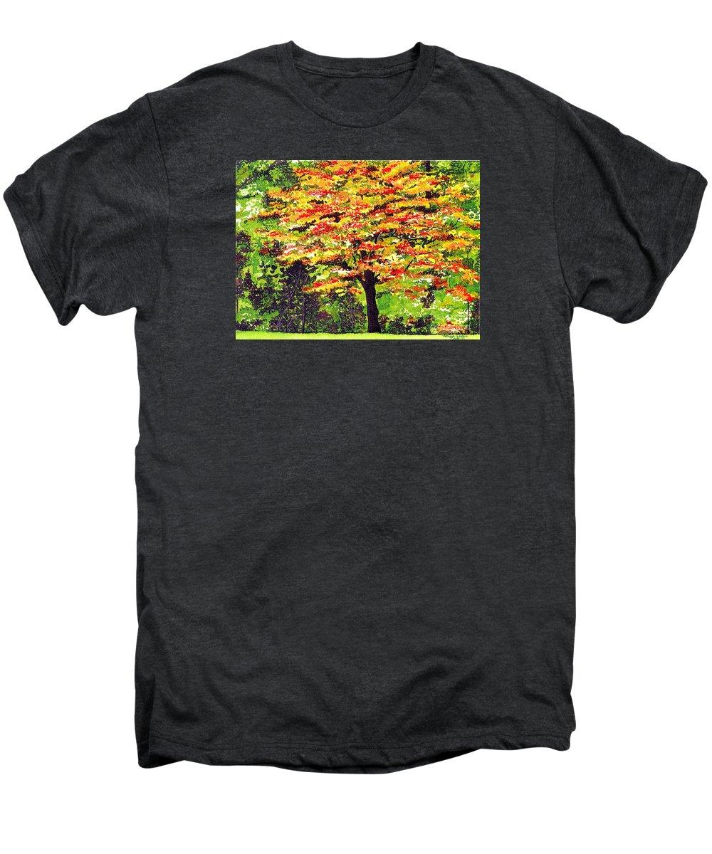 Fine Art Men's Premium T-Shirt featuring the painting Autumn Splendor by Patricia Griffin Brett