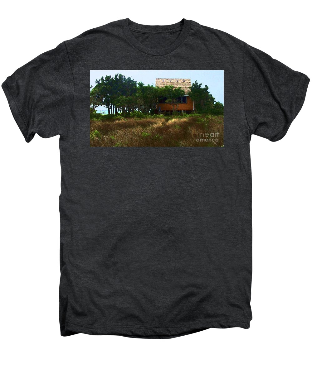 Beach Men's Premium T-Shirt featuring the photograph Back To The Island by Debbi Granruth