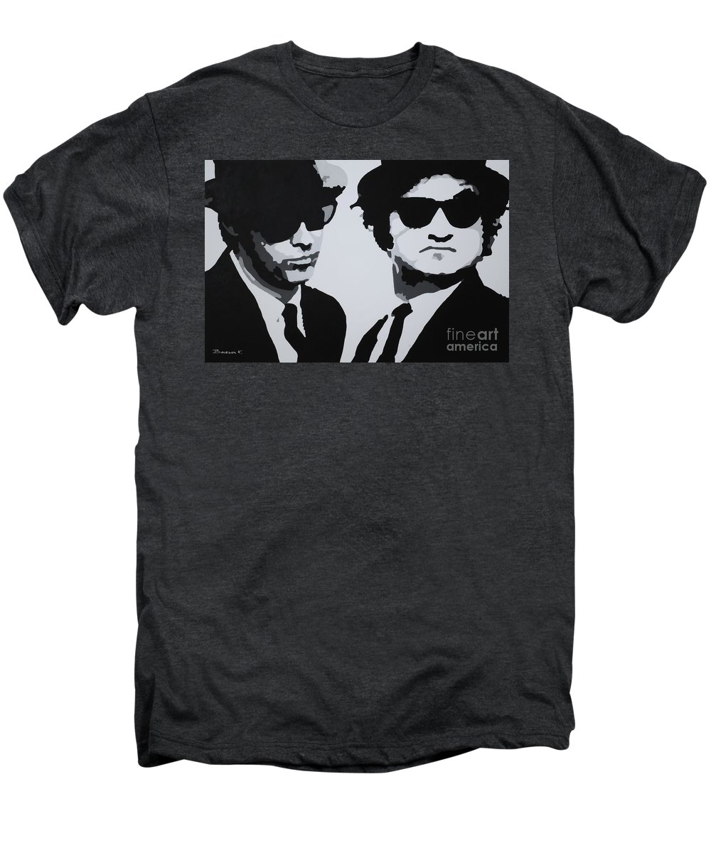 Blues Brothers Men's Premium T-Shirt featuring the painting Blues Brothers by Katharina Filus