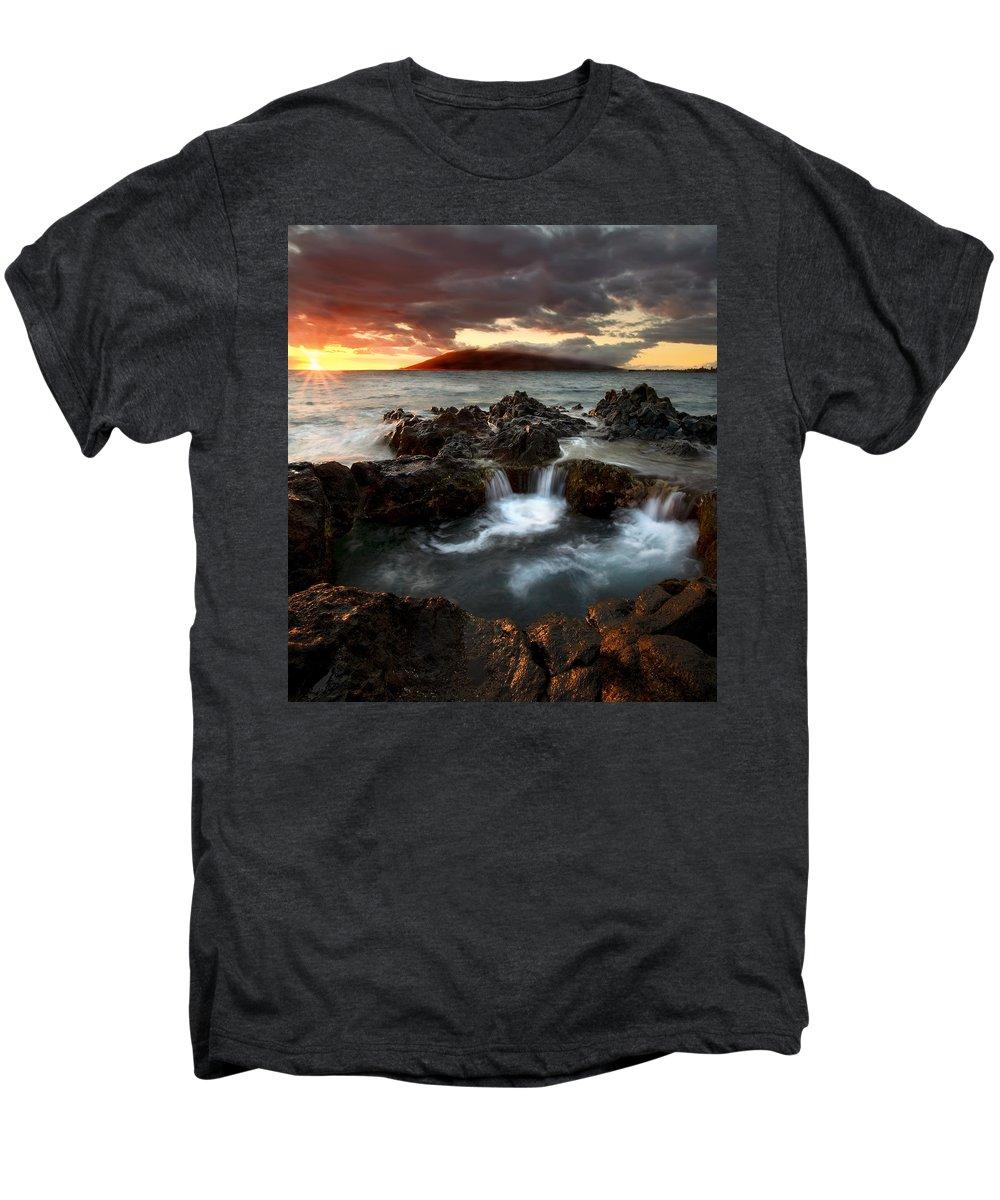 Sunset Men's Premium T-Shirt featuring the photograph Bubbling Cauldron by Mike Dawson