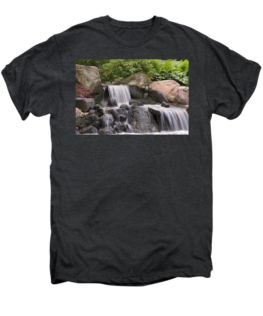 3scape Photos Men's Premium T-Shirt featuring the photograph Cascade Waterfall by Adam Romanowicz
