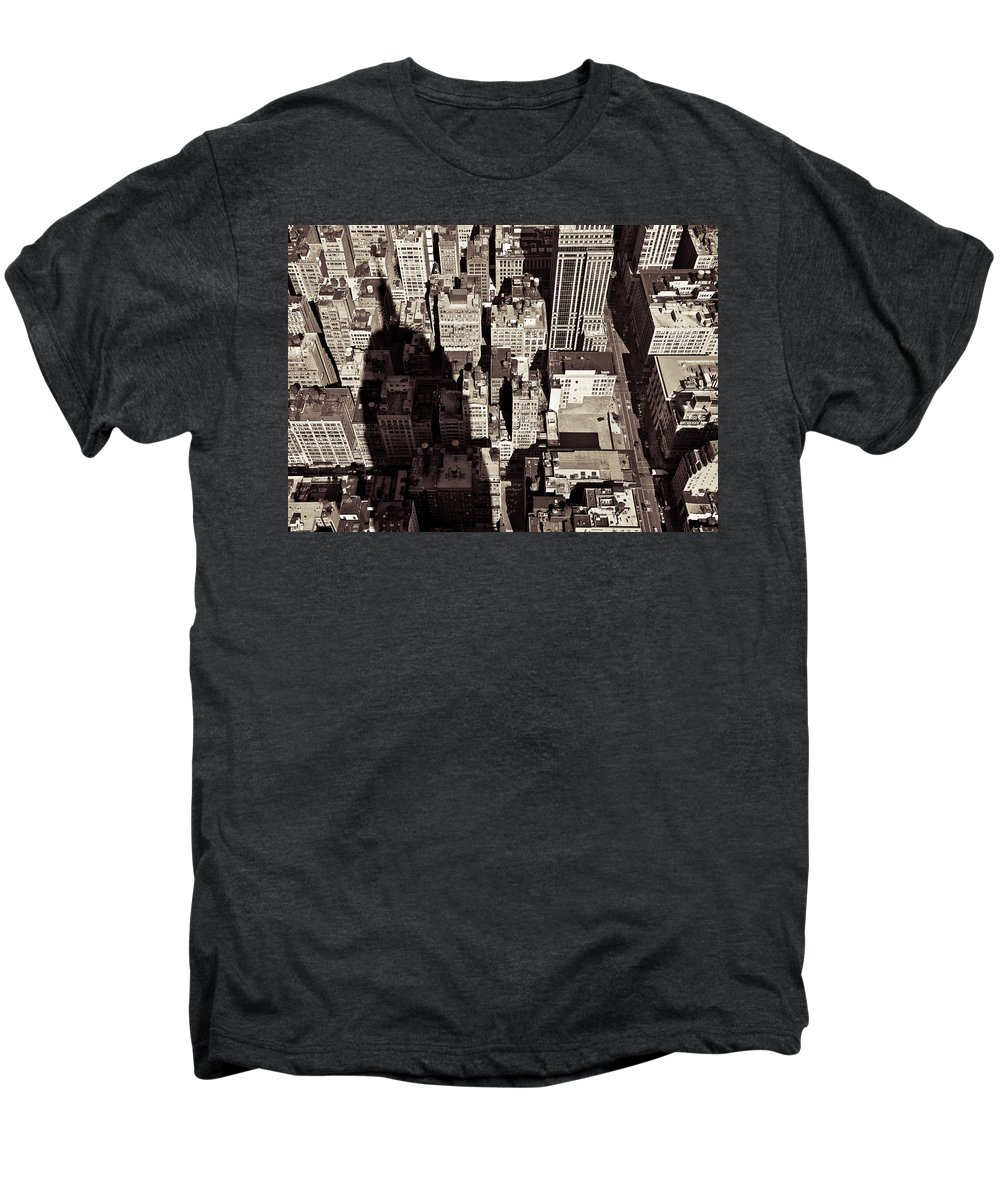 New York Men's Premium T-Shirt featuring the photograph City Shadow by Dave Bowman