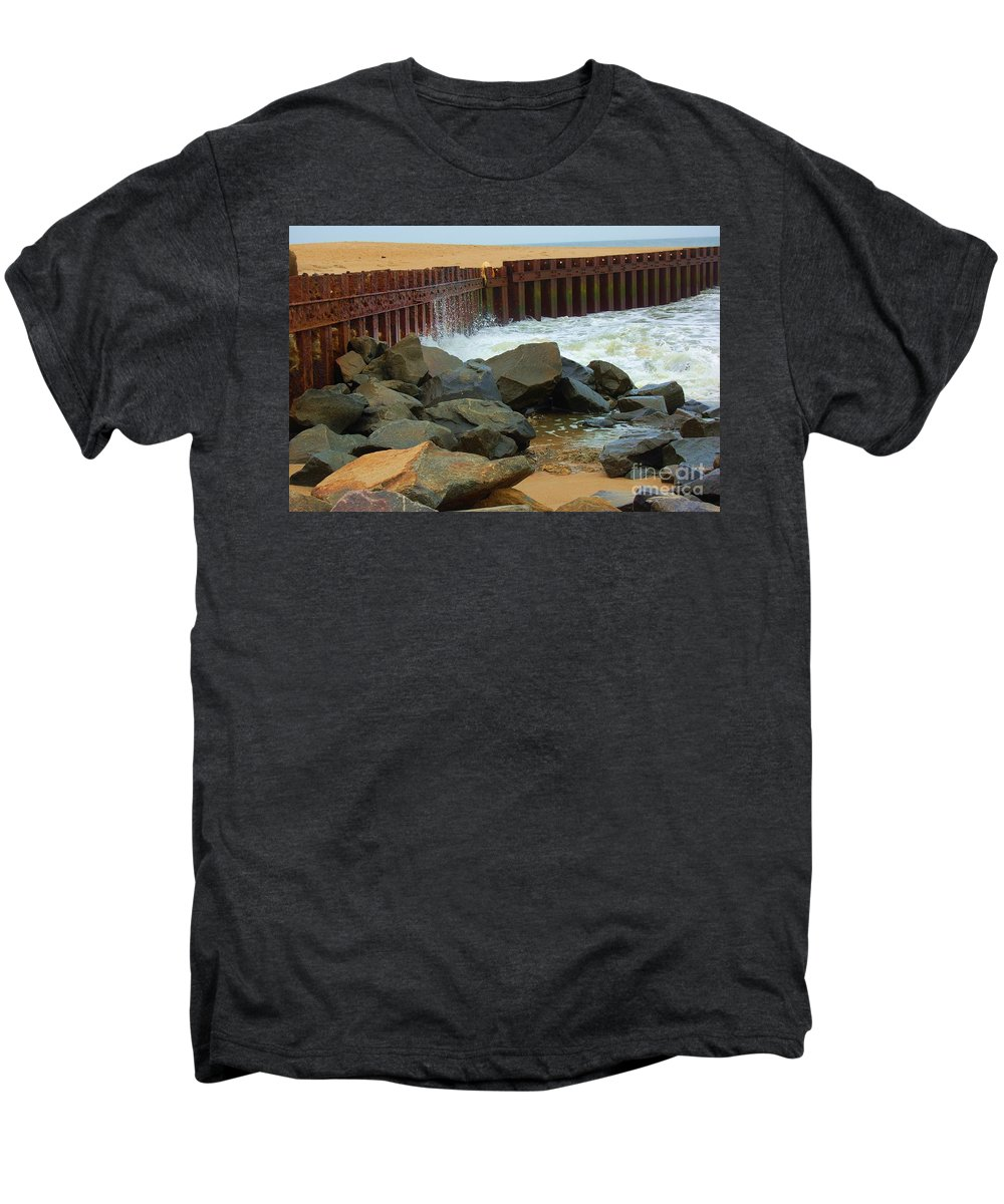 Water Men's Premium T-Shirt featuring the photograph Coast Of Carolina by Debbi Granruth