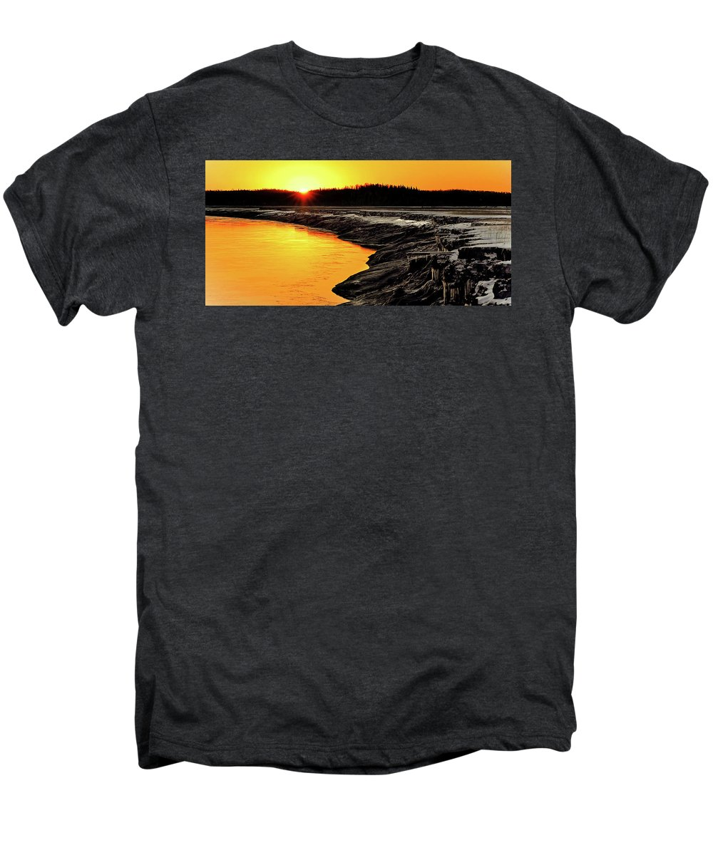 Alaska Men's Premium T-Shirt featuring the photograph Contrasts In Nature by Ron Day