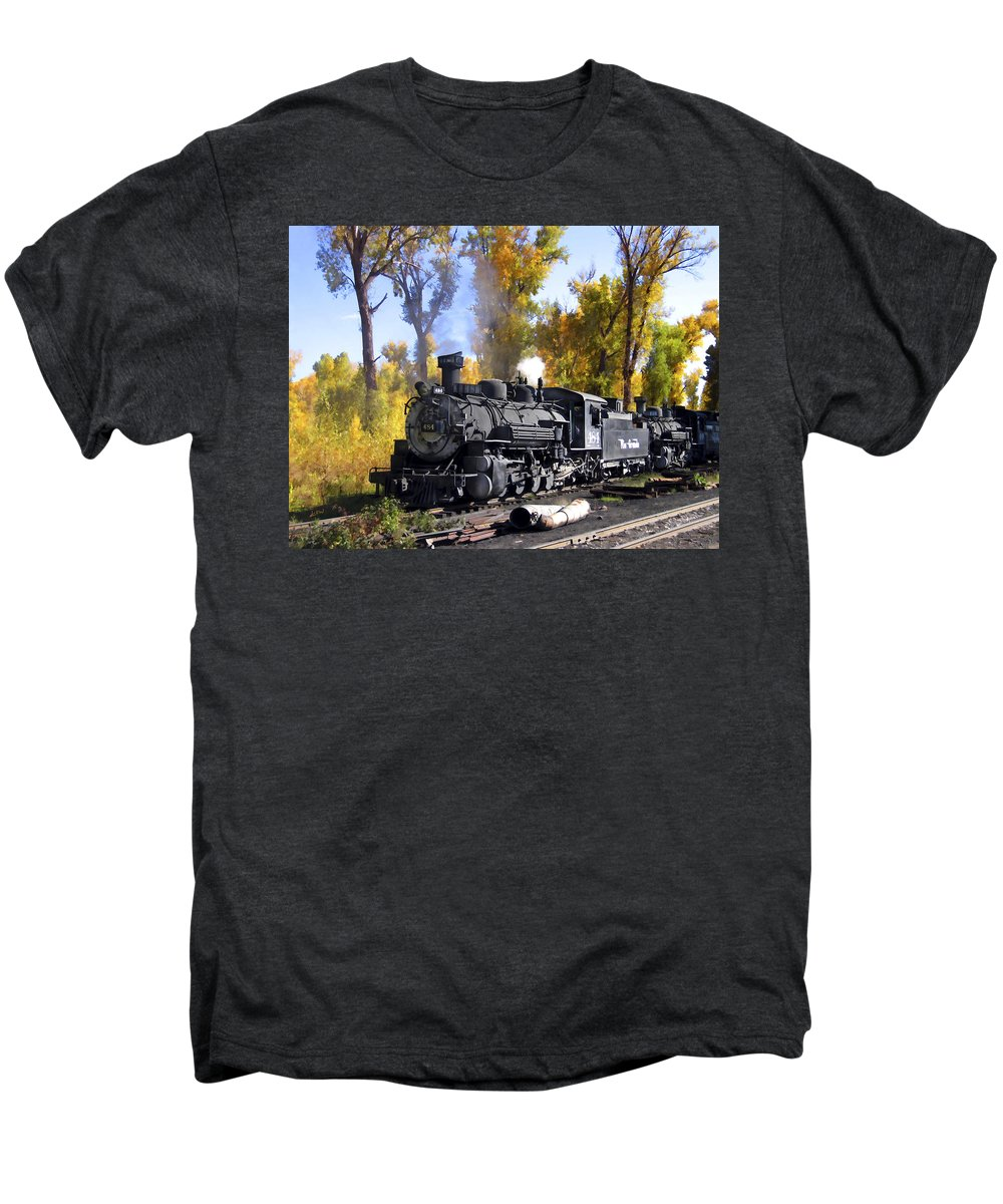 Train Men's Premium T-Shirt featuring the photograph Cumbres And Toltec Railroad by Kurt Van Wagner