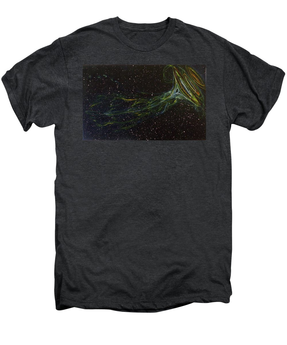 Abstract Men's Premium T-Shirt featuring the painting Death Throes by Sean Connolly