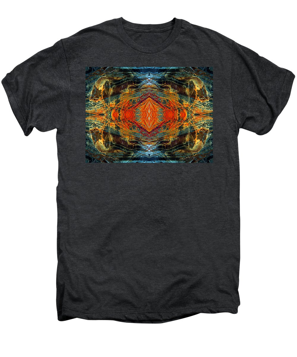Surrealism Men's Premium T-Shirt featuring the digital art Decalcomaniac Intersection 2 by Otto Rapp