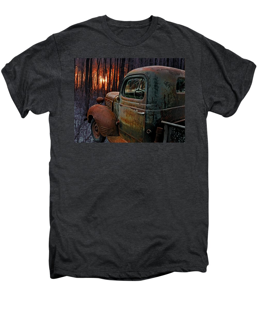 Pickup Men's Premium T-Shirt featuring the photograph Deer Hunting by Ron Day