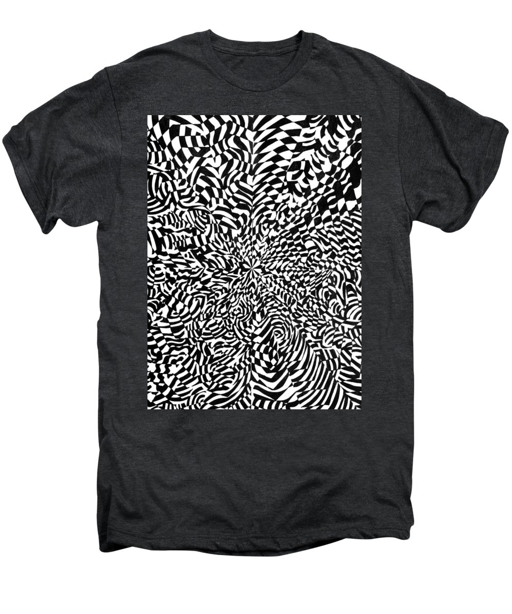 Abstract Men's Premium T-Shirt featuring the drawing Entangle by Crystal Hubbard