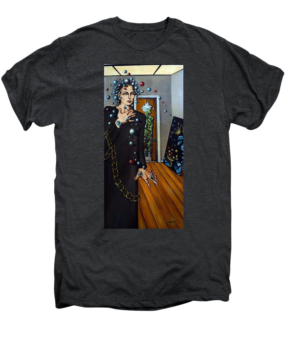 Surreal Men's Premium T-Shirt featuring the painting Existential Thought by Valerie Vescovi