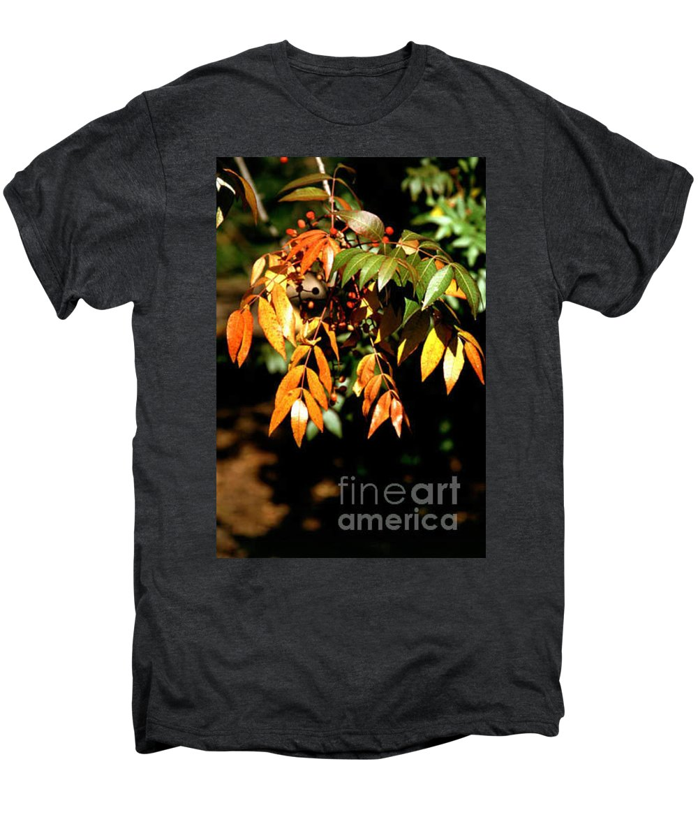 Fall Color Men's Premium T-Shirt featuring the photograph Fall Leaves by Kathy McClure