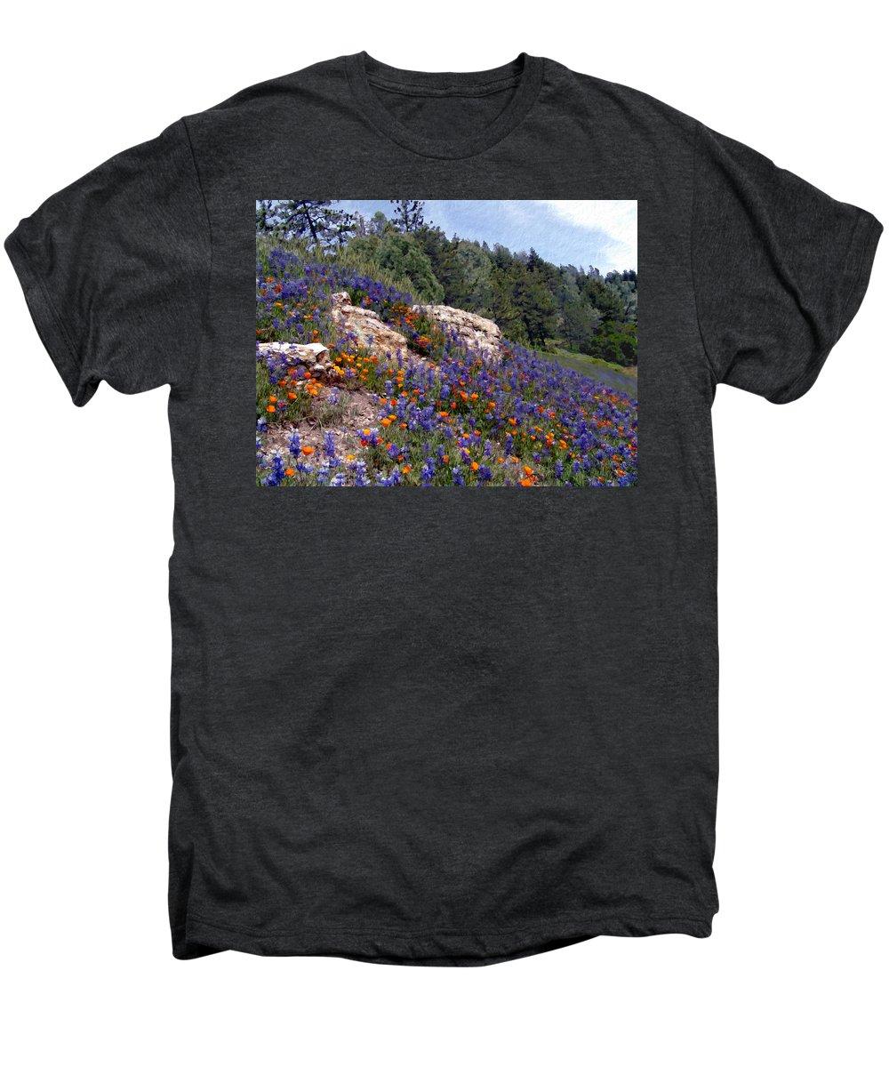 Flowers Men's Premium T-Shirt featuring the photograph Figueroa Mountain Splendor by Kurt Van Wagner