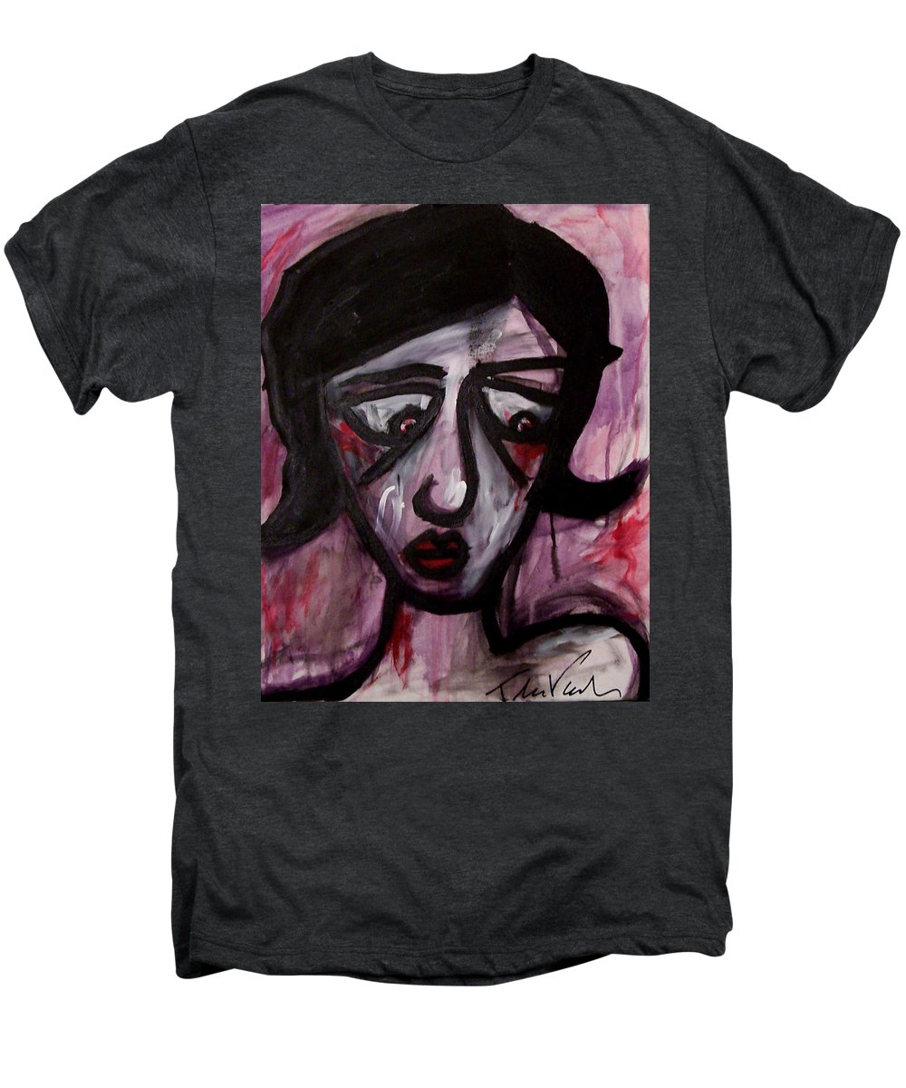 Portait Men's Premium T-Shirt featuring the painting Finals by Thomas Valentine