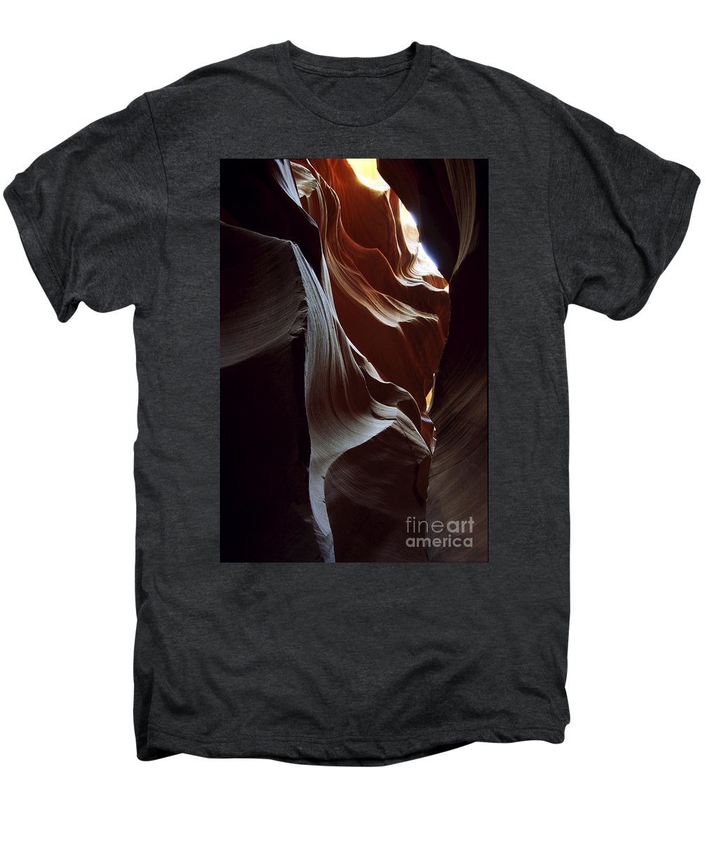 Antelope Canyon Men's Premium T-Shirt featuring the photograph Follow The Light by Kathy McClure