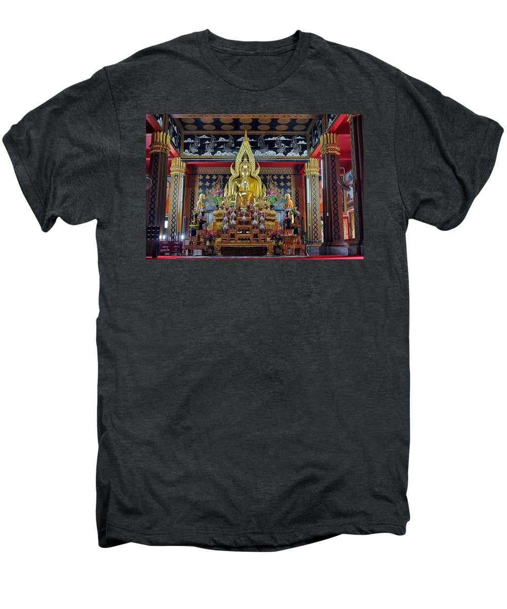 3scape Men's Premium T-Shirt featuring the photograph Golden Buddha by Adam Romanowicz