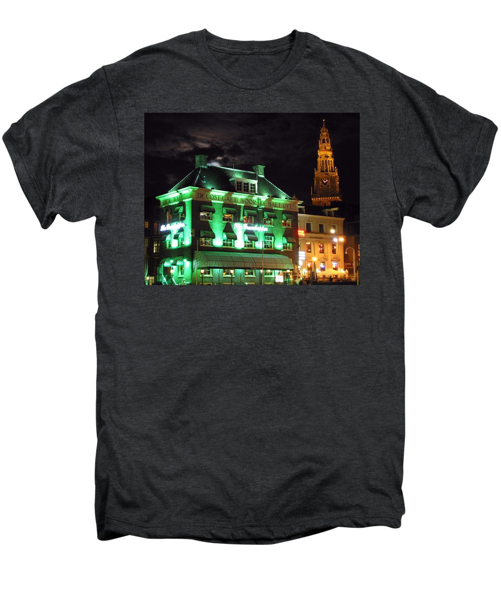 3scape Men's Premium T-Shirt featuring the photograph Grasshopper Bar by Adam Romanowicz