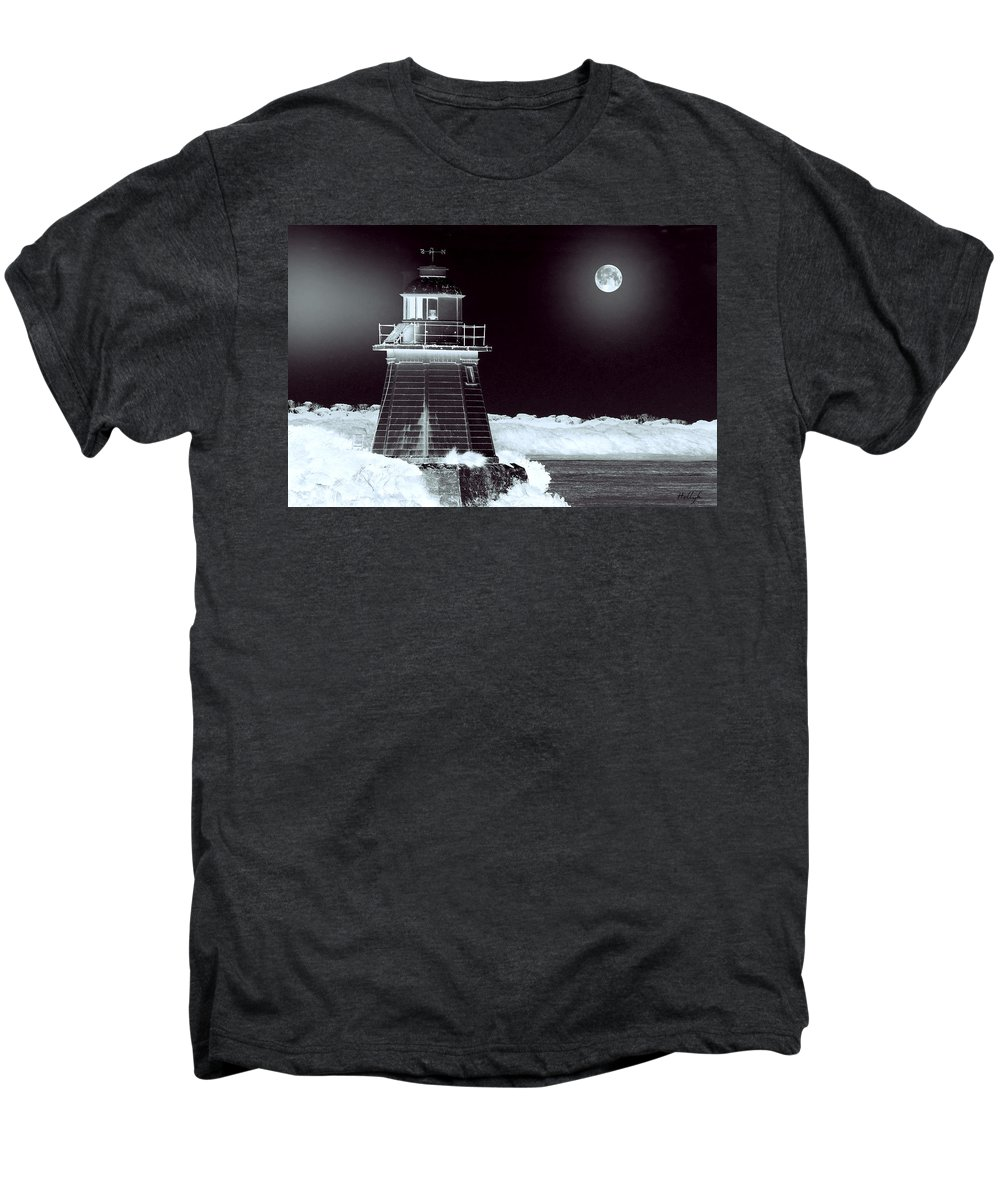 Landscapes Men's Premium T-Shirt featuring the photograph Guiding Lights by Holly Kempe