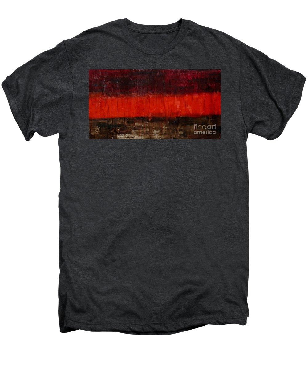 Modern Art Men's Premium T-Shirt featuring the painting High Energy by Silvana Abel