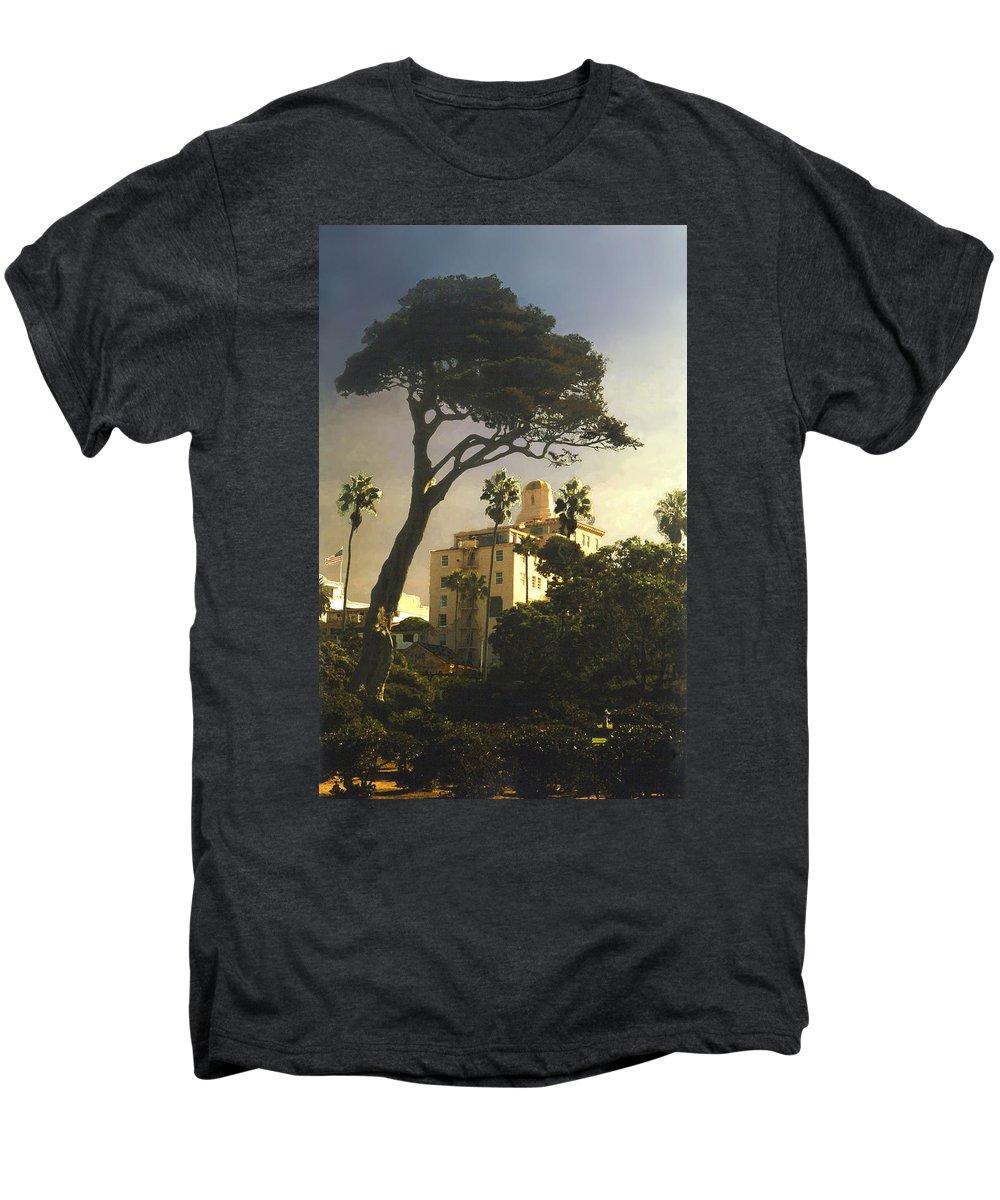 Landscape Men's Premium T-Shirt featuring the photograph Hotel California- La Jolla by Steve Karol