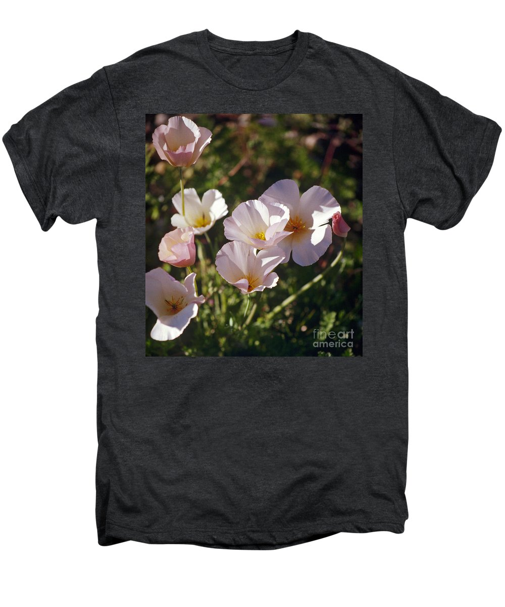 Flowers Men's Premium T-Shirt featuring the photograph Icelandic Poppies by Kathy McClure