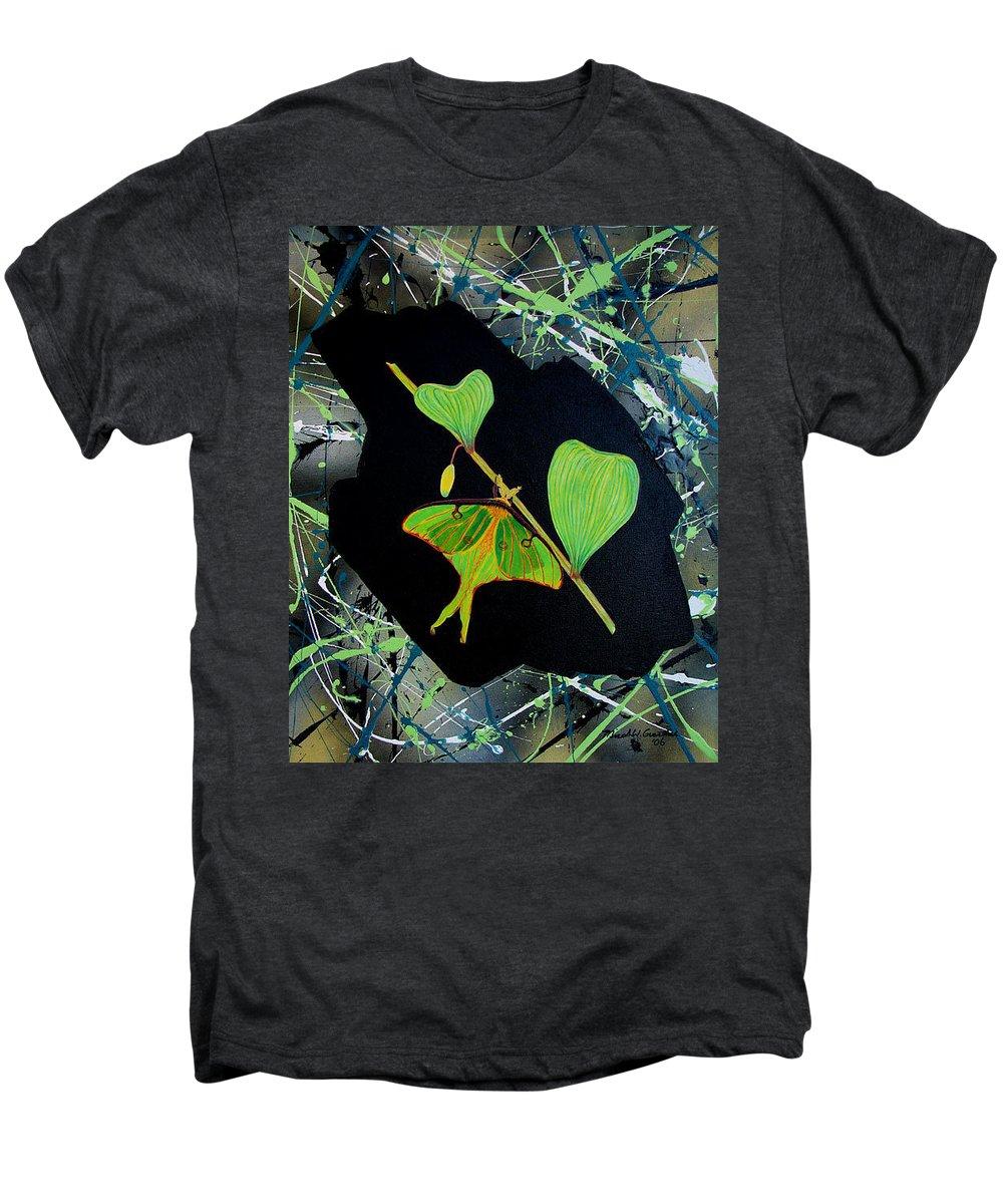 Abstract Men's Premium T-Shirt featuring the painting Imperfect IIi by Micah Guenther