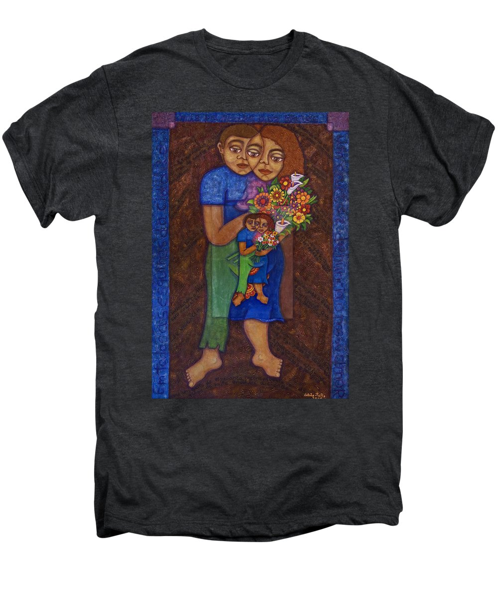Invention Of Love Men's Premium T-Shirt featuring the painting Invention Of Love by Madalena Lobao-Tello
