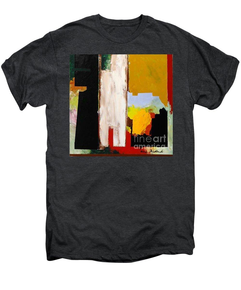 Landscape Men's Premium T-Shirt featuring the painting Jordan Park 511 by Allan P Friedlander
