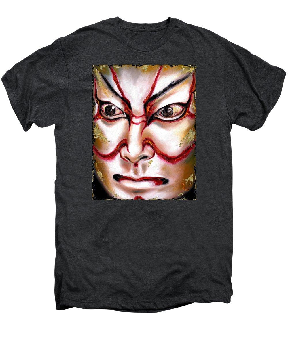 Kabuki Men's Premium T-Shirt featuring the painting Kabuki One by Hiroko Sakai