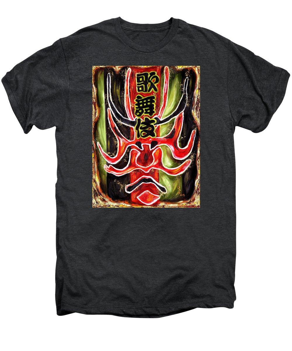 Kabuki Men's Premium T-Shirt featuring the painting Kabuki Two by Hiroko Sakai