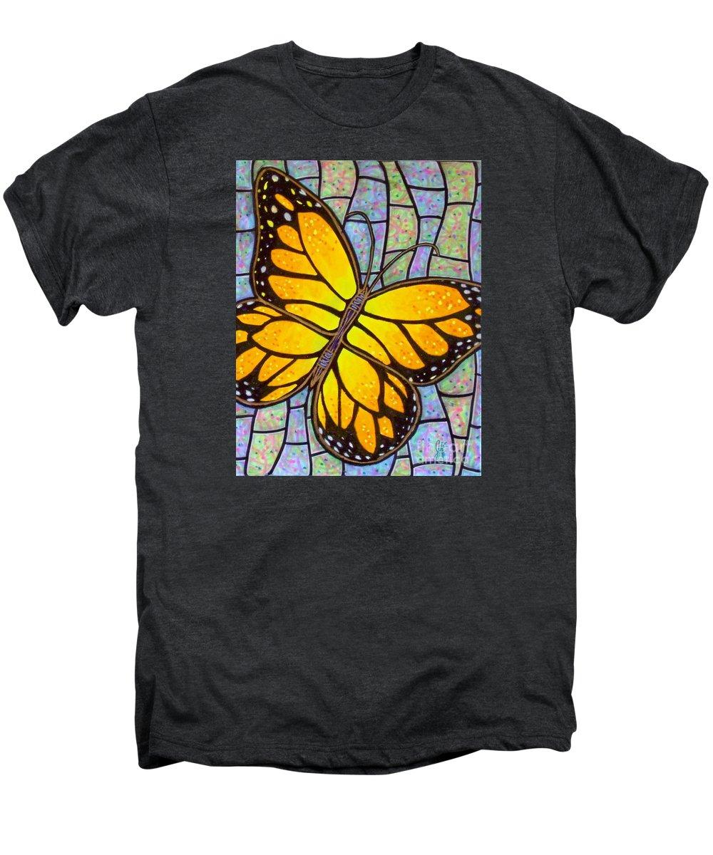 Butterflies Men's Premium T-Shirt featuring the painting Karens Butterfly by Jim Harris