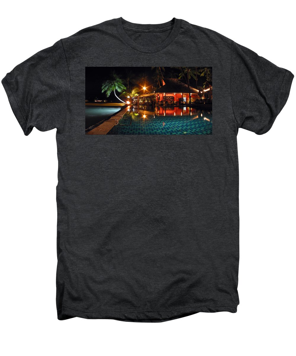 3scape Men's Premium T-Shirt featuring the photograph Koh Samui Beach Resort by Adam Romanowicz