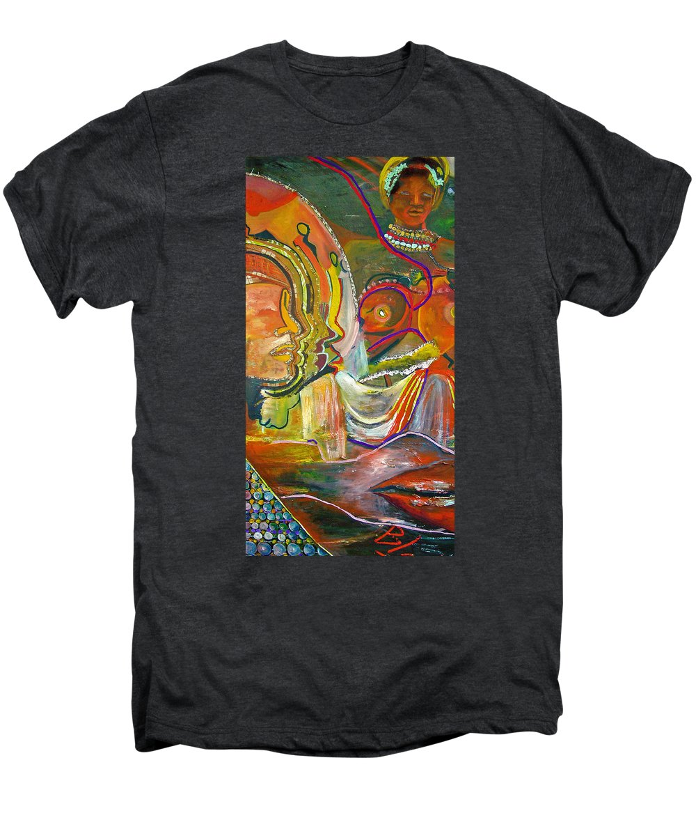 Impressionism Men's Premium T-Shirt featuring the painting Koulikoro Woman by Peggy Blood
