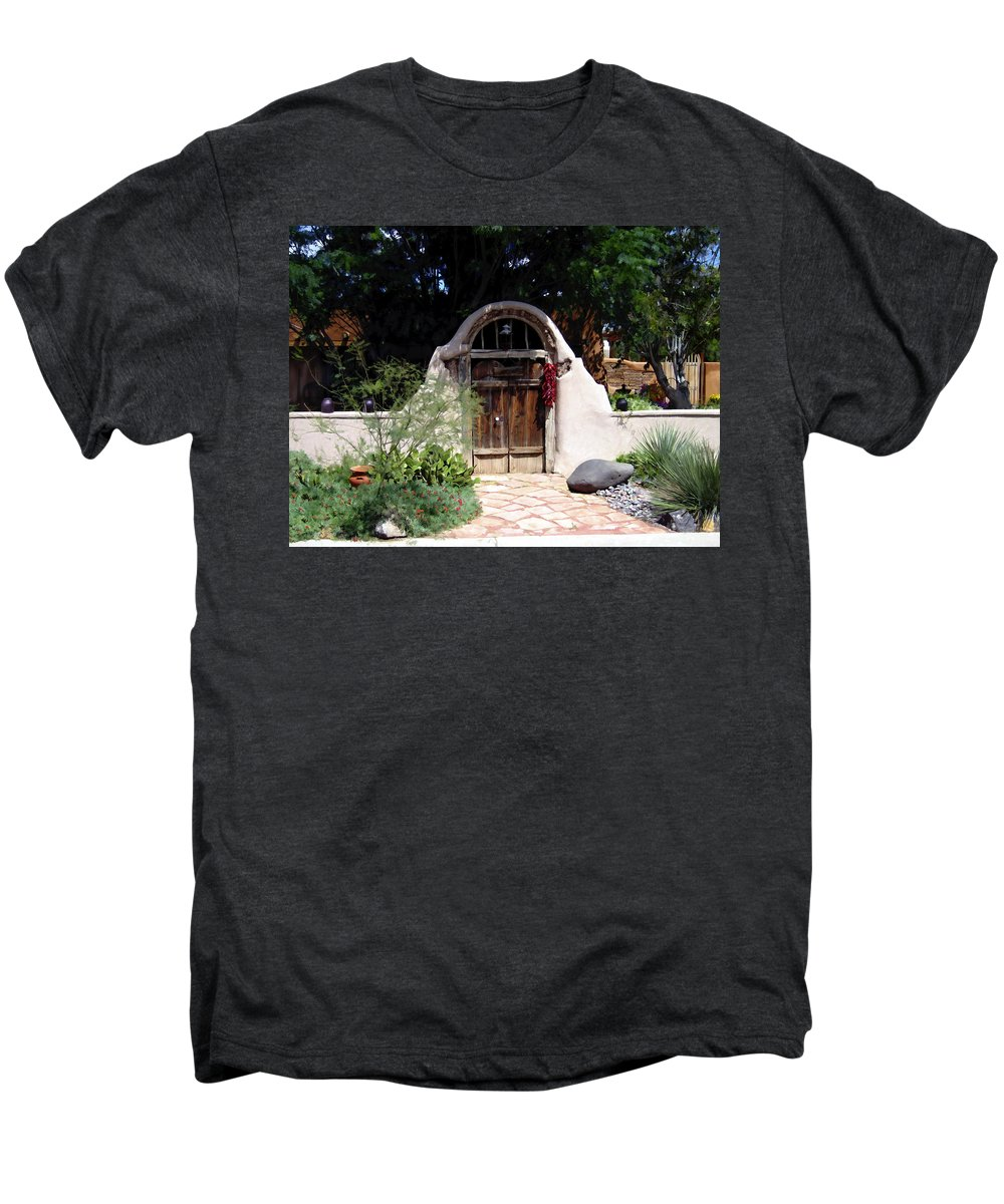 Doors Men's Premium T-Shirt featuring the photograph La Entrada A La Casa Vieja De Mesilla by Kurt Van Wagner