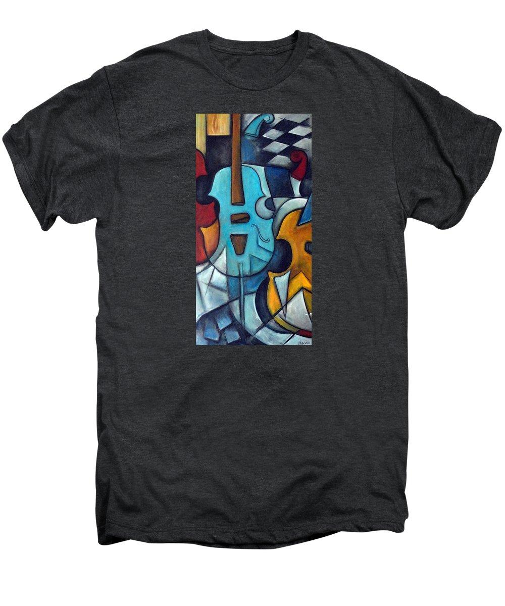 Music Men's Premium T-Shirt featuring the painting La Musique 2 by Valerie Vescovi