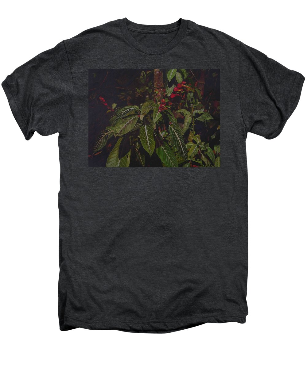 Leaves Men's Premium T-Shirt featuring the painting Leaving Monroe by Thu Nguyen