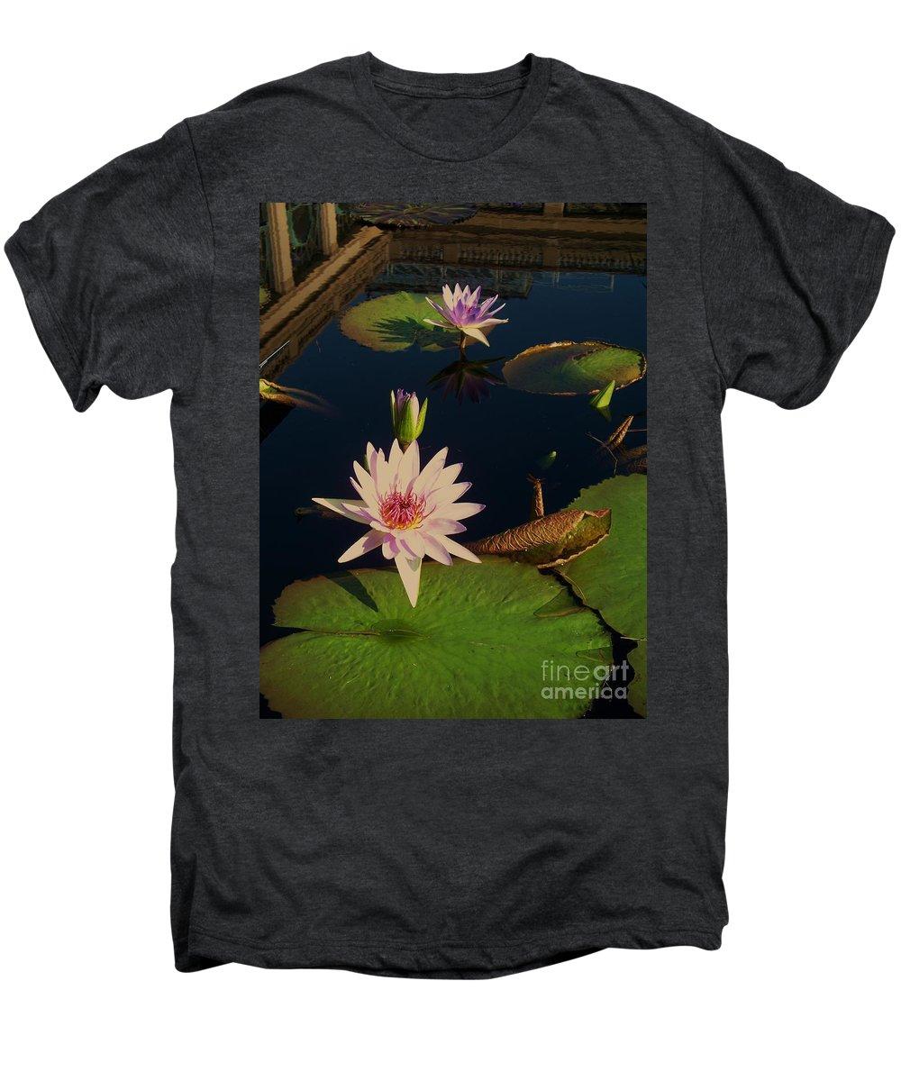 Photograph Men's Premium T-Shirt featuring the photograph Lily White Monet by Eric Schiabor