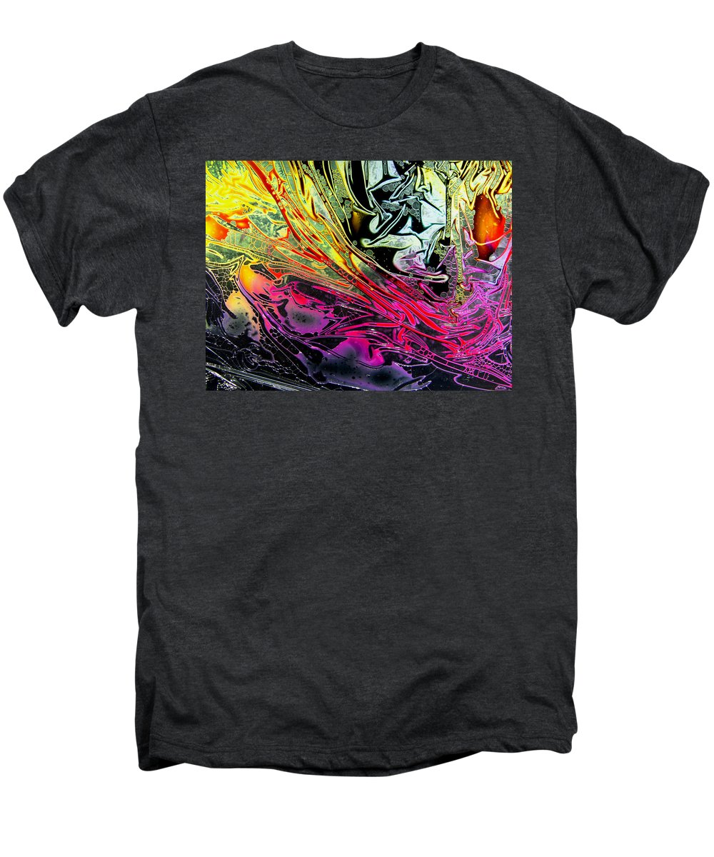 Surrealism Men's Premium T-Shirt featuring the digital art Liquid Decalcomaniac Desires 1 by Otto Rapp