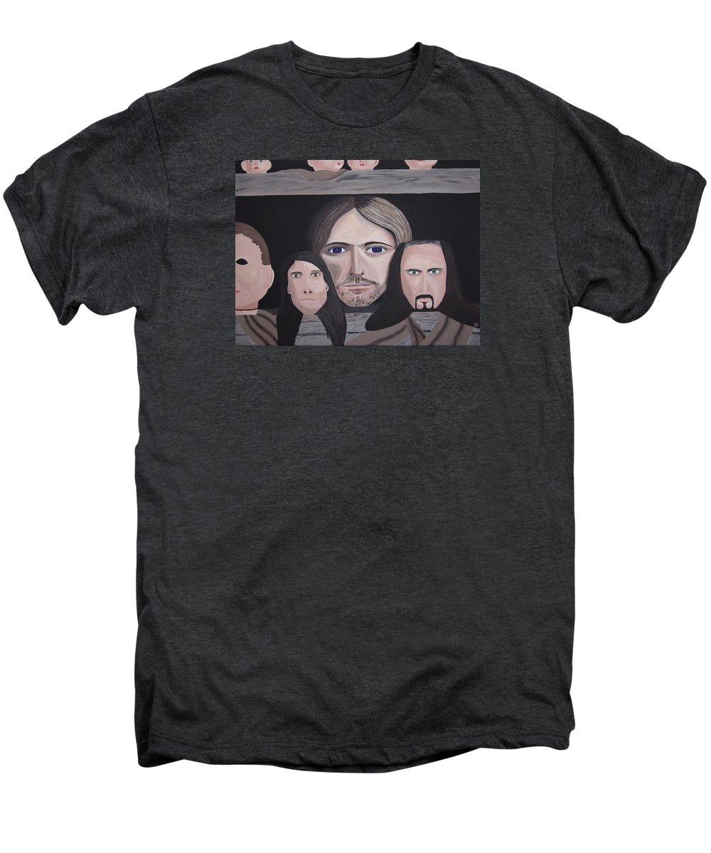 Original Men's Premium T-Shirt featuring the painting Lithium by Dean Stephens