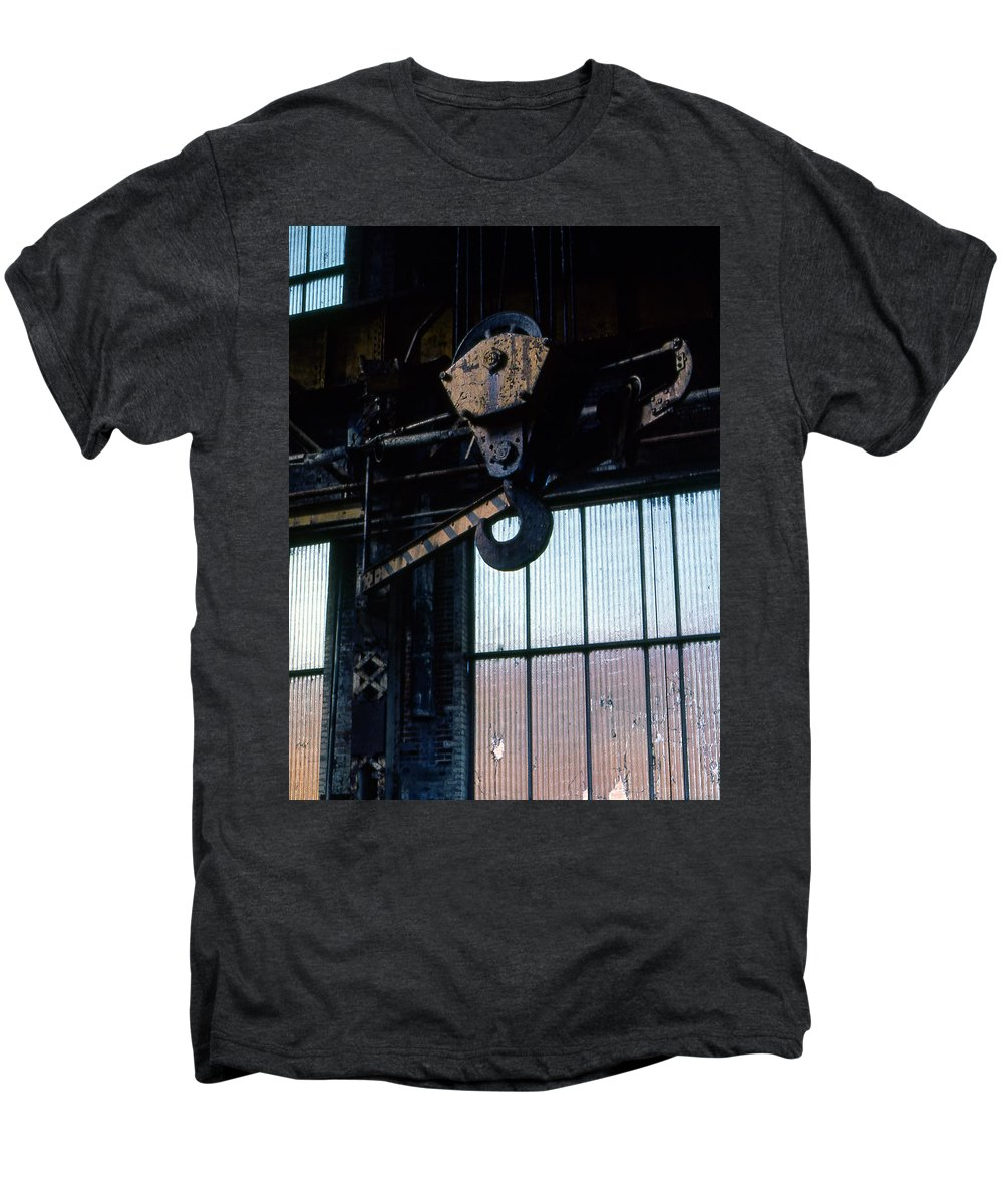 Hooks Men's Premium T-Shirt featuring the photograph Locomotive Hook by Richard Rizzo