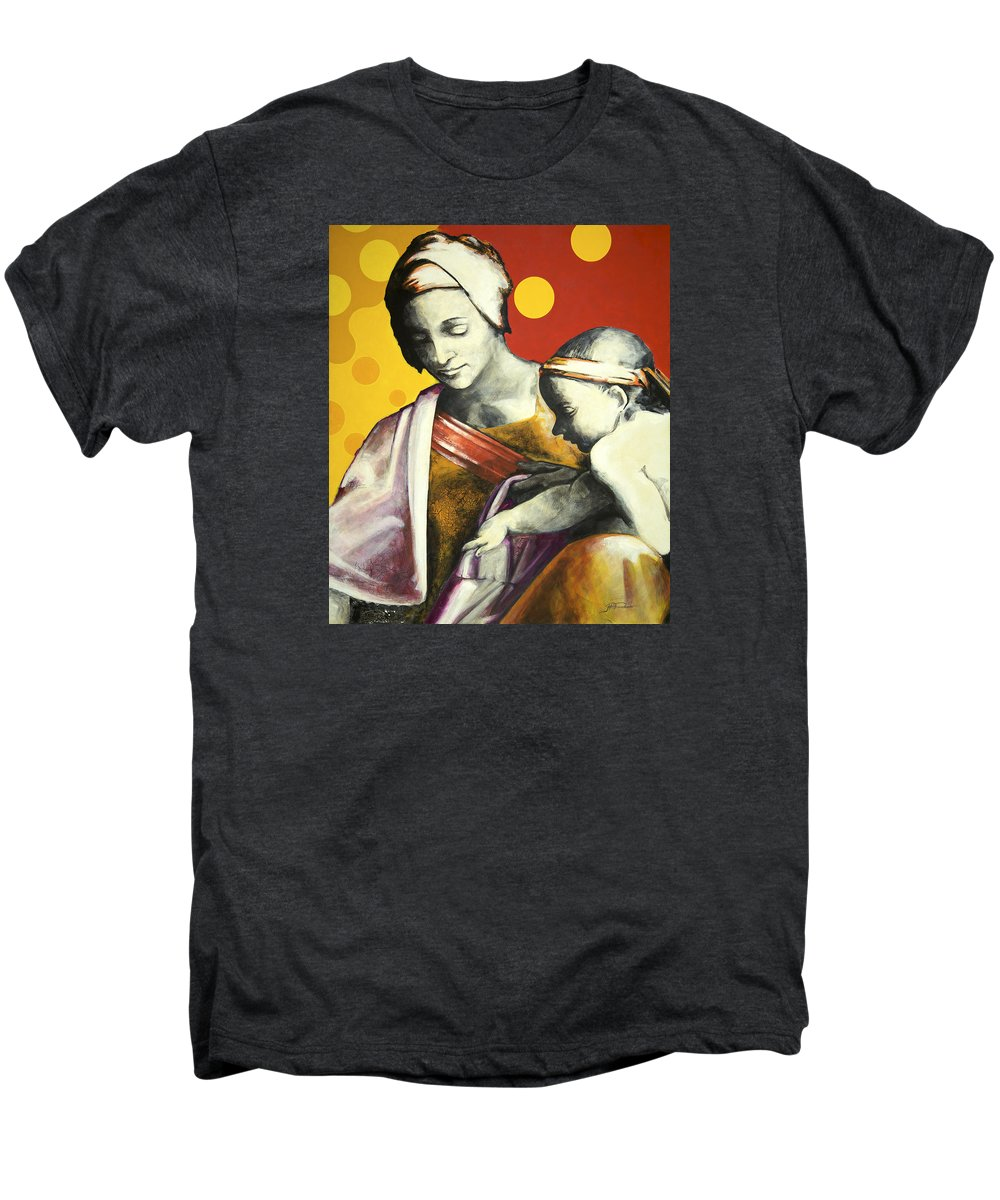 Figurative Men's Premium T-Shirt featuring the painting Madona by Jean Pierre Rousselet